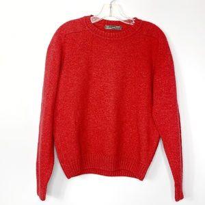 Zara Orange Wool Blend Crewneck Sweater Size M